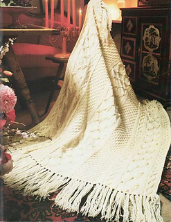 Ravelry Fisherman Knit Afghan Pattern By Patons