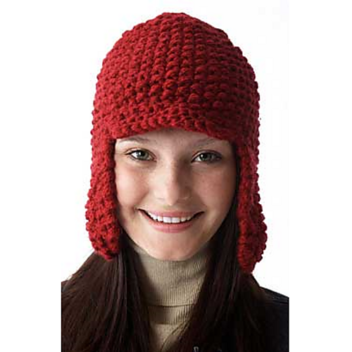 Ravelry Earflap Hat With Peak 149 Pattern By Patons