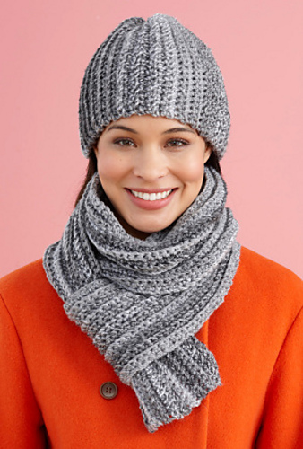 Ravelry Easy Peasy Hat And Scarf Set Scarf Pattern By Lion Brand Yarn