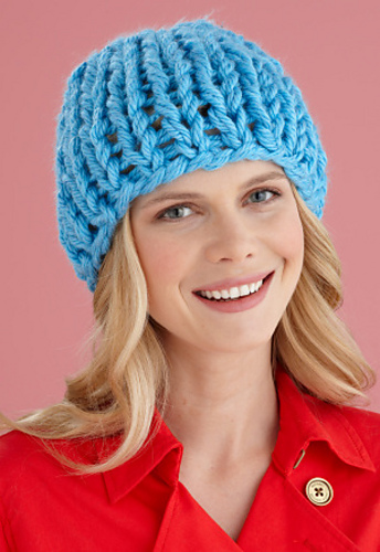 Ravelry: One Ball Beginner Hat pattern by Lion Brand Yarn