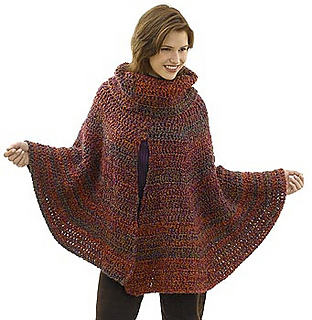 Free Crochet Pattern Poncho With Sleeves : Ravelry: Day to Night Poncho pattern by Lion Brand Yarn