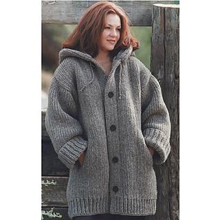 Ravelry: Loom-Knit Danbury Hooded Sweater Jacket pattern ...