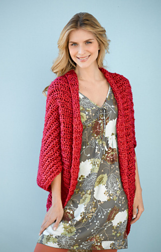 Simple Crochet Shrug 90689 Pattern By Lion Brand Yarn Ravelry