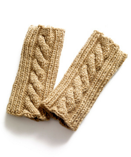 Ravelry Knit Cabled Wristlets Pattern By Lion Brand Yarn