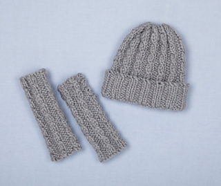 1632cd6c55b Ravelry  Loom Knit Cable Hat and Wristers (Wristers) pattern by Lion ...