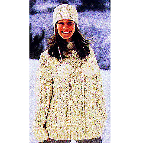 Ravelry Cable Knit Pullover Sweater Pattern By Lion Brand Yarn
