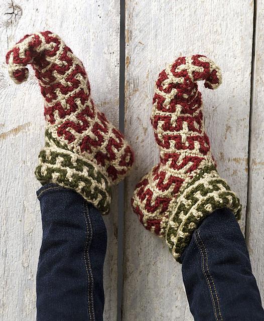 Ravelry Elf Slippers Crochet Archived Pattern By Kj Hay