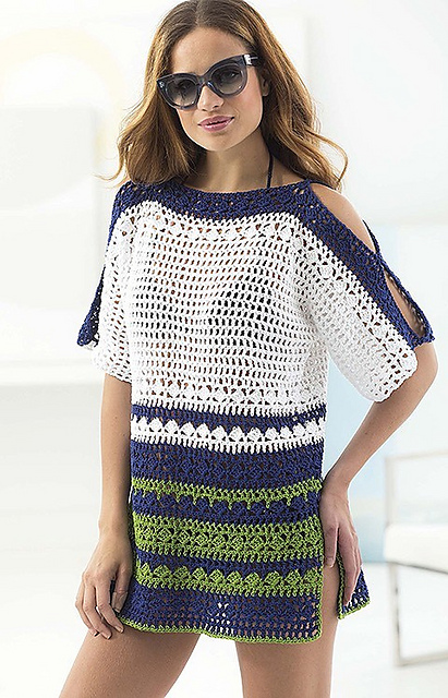Ravelry Beach Coverup Pattern By Lion Brand Yarn