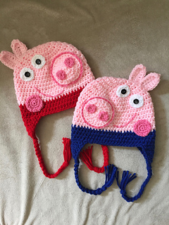 Ravelry Peppa And George Pig Pattern By It S So Crochet