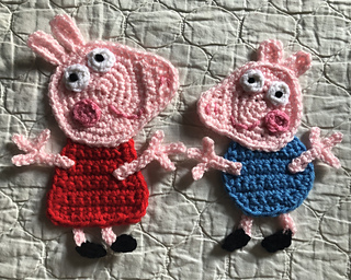 Ravelry: peppa pig applique pattern by its so crochet