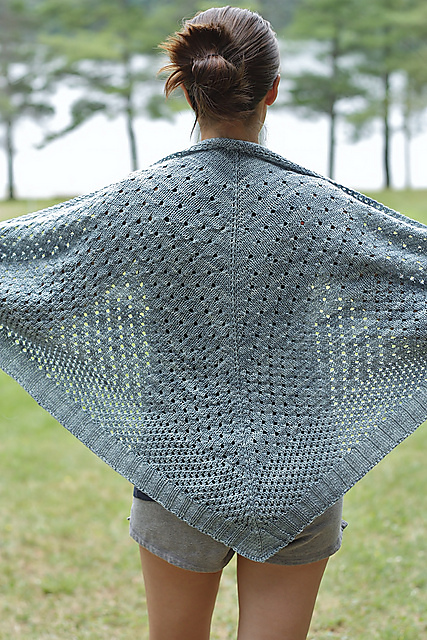 Easy lace knitting stitch pattern for shawl, perfect gift for her!