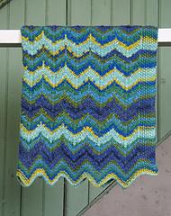 Starry Stripes Baby Blanket PDF
