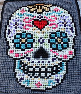 Ravelry Sugar Skull Lapghan Pattern By Cozy Cats Crochet
