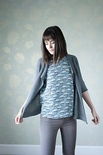 Brise Cardigan pattern by Hannah Fettig