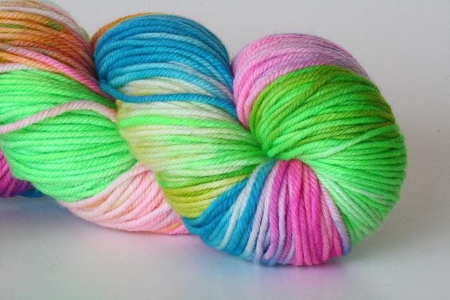 "Yarn Loft ""Starburst"" on Worsted Superwash"