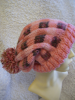 Ravelry  Rose Plaid Slouchy Beanie pattern by Abigail Originals a8a7ff22ae9