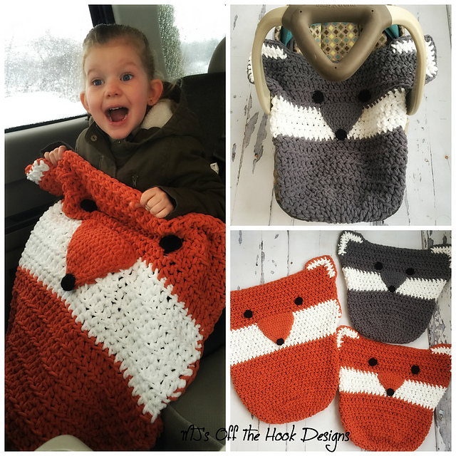 Ravelry Fox Wolf Car Seat Cozy Pattern By Mjs Off The Hook Designs