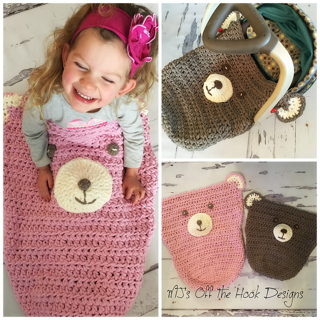 Ravelry Teddy Bear Car Seat Cozy Pattern By MJs Off The Hook Designs
