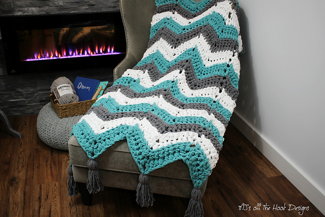 Ravelry Super Bulky Chevron Throw Pattern By Mjs Off The Hook Designs