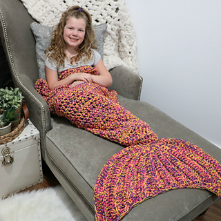 Ravelry Bulky Quick Mermaid Blanket Pattern By Mjs Off The Hook