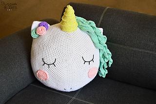 945eb446d66 Ravelry  Unicorn Pillow pattern by Michelle Alvarez