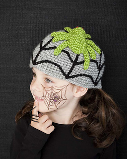 Crochet Pattern For Baby Witch Hat : Ravelry: Spooky Spider pattern by Linda Cyr