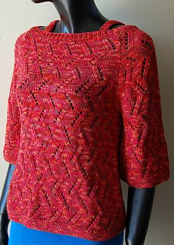 Ravelry Raglan Sleeve Boat Neck Womans Sweater Pattern By Crystal