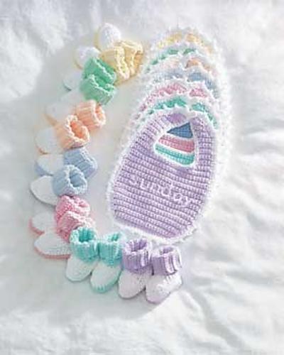 Ravelry Lily Sugarn Cream 570813 Sugar Babies Bibsn Booties