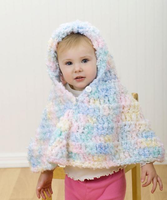 Ravelry Hooded Crochet Baby Poncho Pattern By Joyce Nordstrom