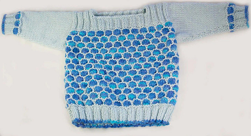 Ravelry Bubble Stitch Boatneck Baby Sweater Pattern By