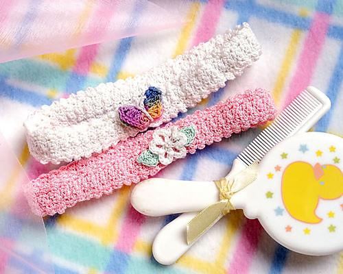 Ravelry: Garden Baby Headbands pattern by Lori Zeller