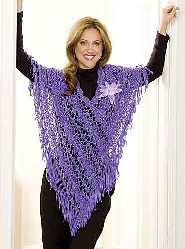 Ravelry: Steppin\' Out Poncho pattern by Marilyn Losee