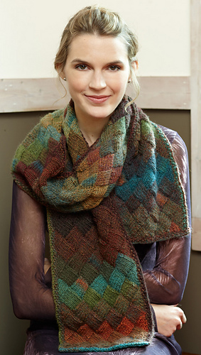 Ravelry Entrelac Scarf L40 Pattern By Lion Brand Yarn Mesmerizing Lion Brand Yarn Patterns