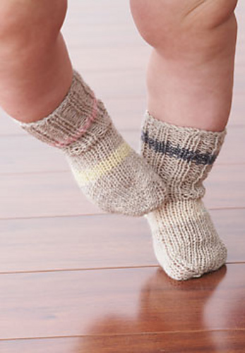 Ravelry Stretch Baby Socks Pattern By Patons