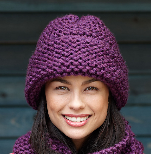 Ravelry Garter Stitch Hat L0336 Pattern By Lion Brand Yarn