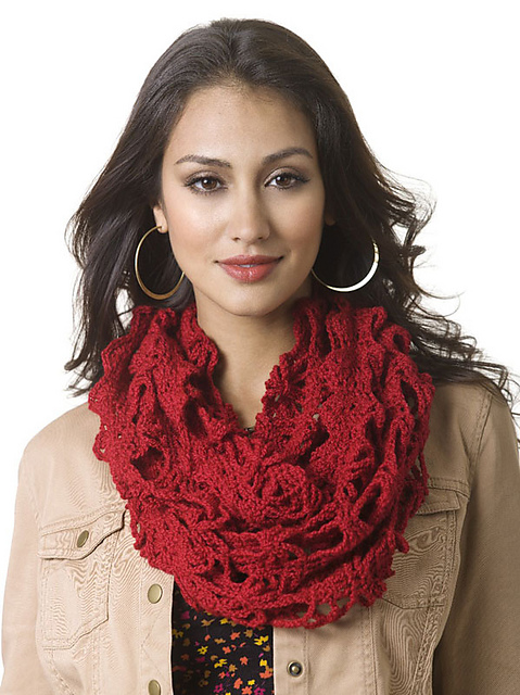 Ravelry Triple Play Infinity Scarf Pattern By Brenda Bourg
