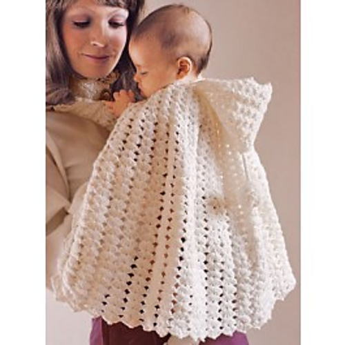 Ravelry Snowflake Hooded Cape For Baby Pattern By Lillian Rather
