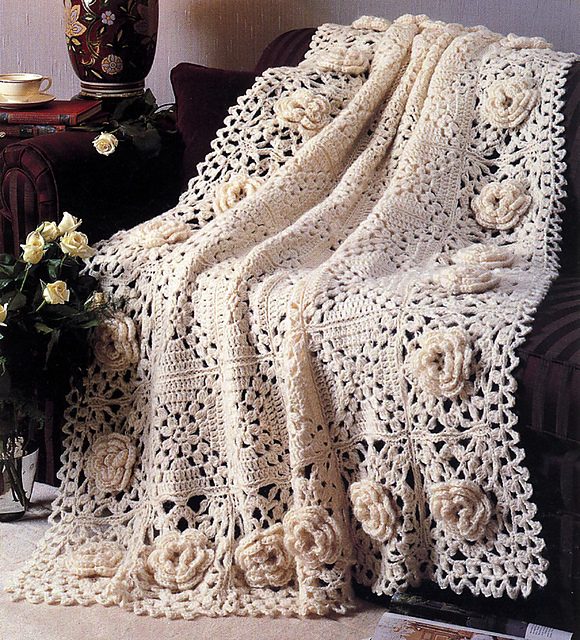 Ravelry Roses Remembered Afghan Pattern By Terry Kimbrough