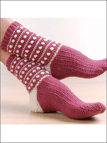Ravelry Annies Attic 876535 Fun To Wear Crocheted Socks Patterns