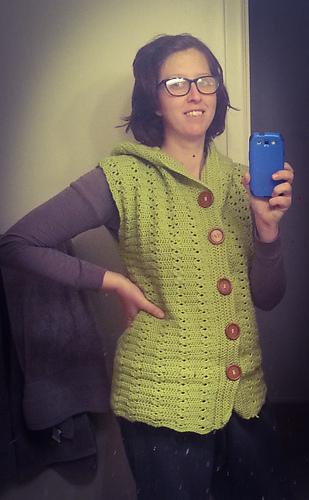 679fd87fd7036 Ravelry  Women s Hooded Vest pattern by Maz Kwok