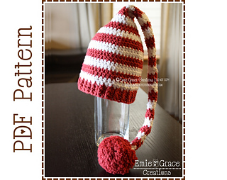Ravelry Crochet Stocking Cap Hat Pattern Santa Hat Christmas Elf