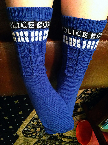 Ravelry Tardis Socks Pattern By Gina Waters