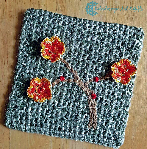 Ravelry Charming Cherry Blossom 6 Square Pattern By Lisa Jelle