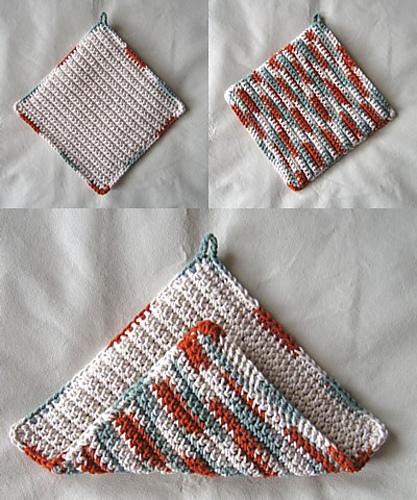 Ravelry: Beginners Crochet Potholder pattern by Sandy Marie