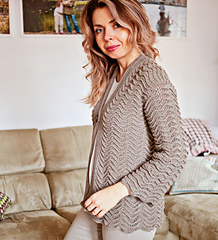 6536507c6 Ravelry  Kimono Style Cardigan pattern by Mon Petit Violon