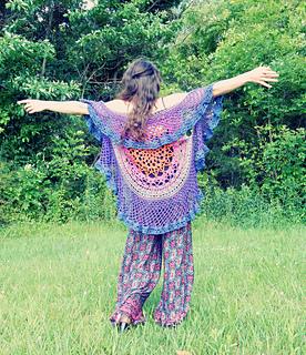 314d5239ee9410 Ravelry  Lotus Circular Vest pattern by Regina Weiss