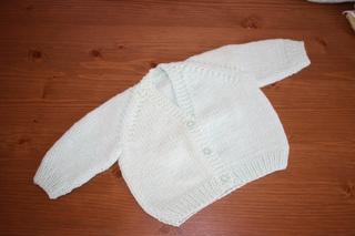 0250e4bc19bd2 Ravelry  Unisex V Necked baby Cardigan pattern by Morven Swan