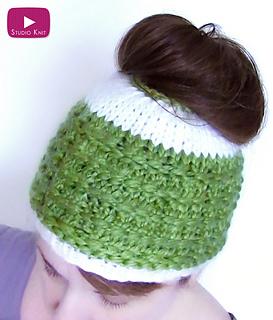 e743ac311 Ravelry: Messy Bun Hat pattern by Kristen McDonnell