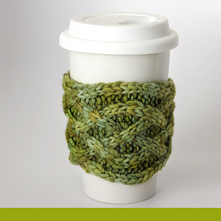 15d83a9966d33f Ravelry  Mug Cozy - Celtic Saxon Braid Cable pattern by Kristen ...