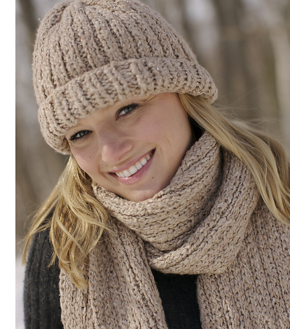 Ravelry Ribbed Hat And Scarf Set Pattern By Authentic Knitting Board